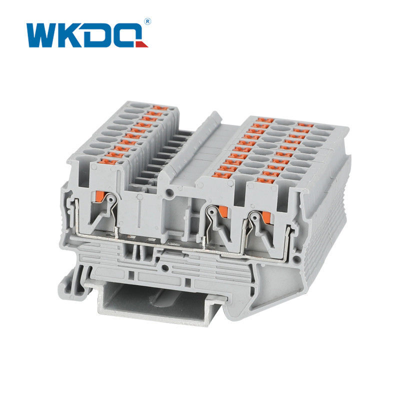Spring Cage Connection Din Rail 2.5mm Terminal Block