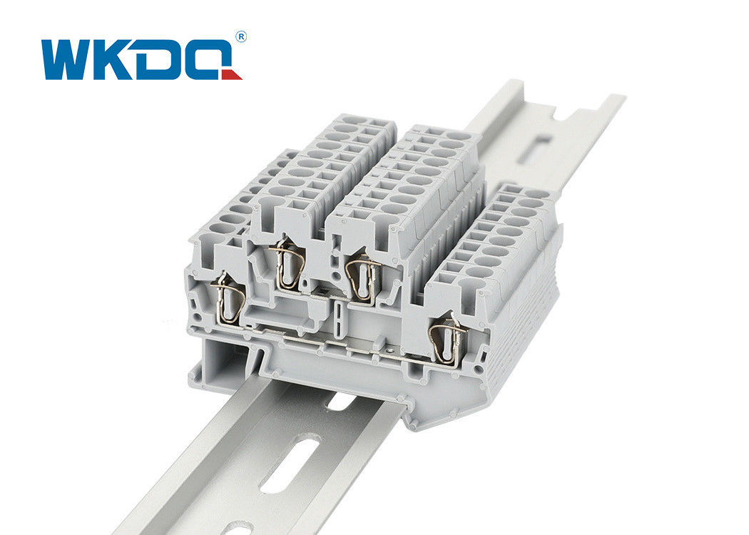 JSTTB 4 Spring Terminal Block Connector Grey Color High Grade Two Conductors